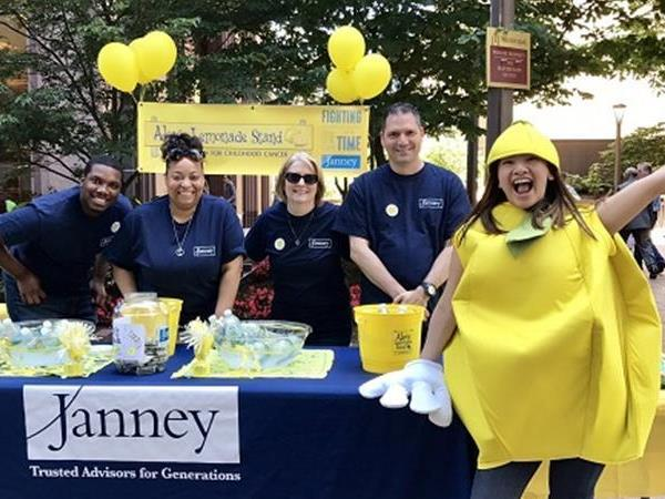 Janney employees at Alex's Lemonade Stand Fundraiser